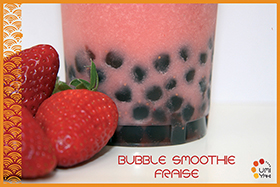 Bubble smoothie fraise