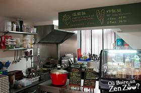 Cuisine et comptoir du 37m²