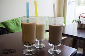 Zen Zoo (bubble tea) Taro, Thé noir et Thé vert
