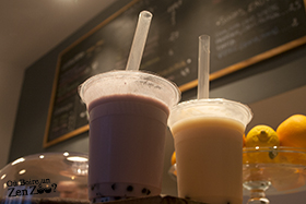 Zen Zoo (bubble tea) de chez Baba Bulle, Taro et Thé noir