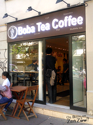 devanture du Boba tea coffee